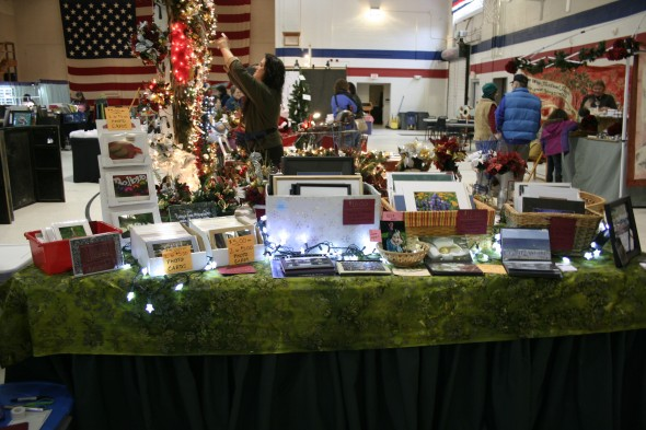 Table set up at craft show