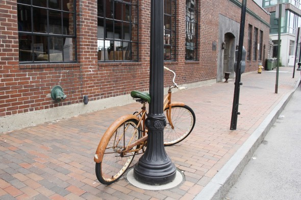 Bicycle on Fore St Portland Maine