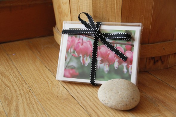 Boxed cards with ribbon