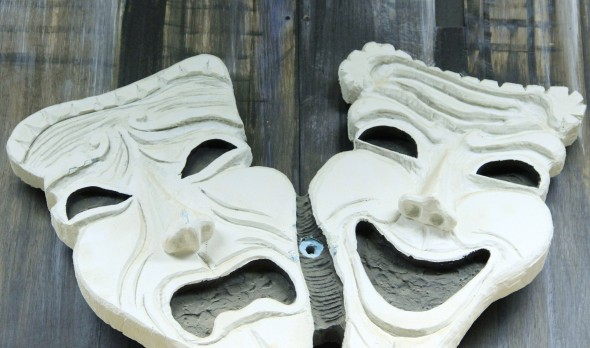 Theatrical Masks in backstage workshop