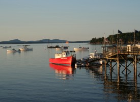 Bar Harbor Red Boat