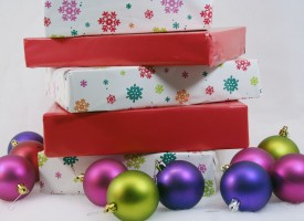 Christmas presents and ornaments