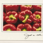 Red peppers photograph in card frame from Photographers Edge