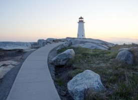 Path to Peggys Cove Lighthouse