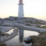 Peggys Cove Lighthouse with reflection