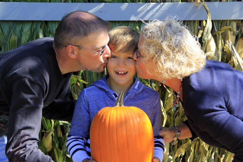 One loved kid - Chance with his parents, Rich & Lisa