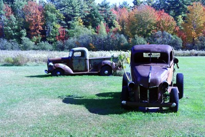 antique trucks autumn