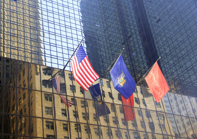 Flags reflected in windows